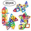 Deals List: Ranphykx Magnetic Blocks, 65 Piece Magnetic Building Blocks Set Magnetic Tiles Educational Toys for Kids