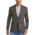 Deals List: Joseph Abboud Charcoal Windowpane Casual Coat