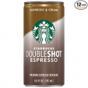 Deals List: Starbucks Doubleshot, Espresso + Cream, 6.5 Fluid Ounce, Pack of 12