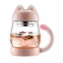 Deals List: BZY1 14oz Glass Tea Cup w/Lid & Strainer