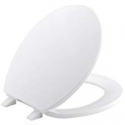 Deals List: Kohler K-4775-0 Brevia with Quick-Release Hinges Round-front Toilet Seat in White