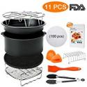 Deals List: Blusmart 8 inch 11 pcs Deep Air Fryer Accessories