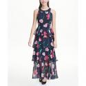 Deals List: Tommy Hilfiger Printed Chiffon Tier Maxi Dress