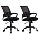 Deals List: 2 Blackergonomic Mesh Computer Office Desk Midback Task Chair