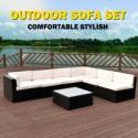 Deals List: Costway 7 Pcs Black Rattan Wicker Set Sectional Seat