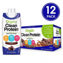 Deals List: Orgain Grass Fed Clean Protein Shake, Creamy Chocolate Fudge - Meal Replacement, Ready to Drink, Gluten Free, Soy Free, Kosher, Non-GMO, 11 Ounce, 12 Count