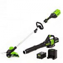 Deals List: Greenworks Pro GW 60-V String Trimmer/Blower Combo Kit with (1) 2 Ah Battery + Charger