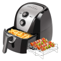 Deals List: Secura Electric Hot Air Fryer Extra Large Capacity Air Fryer and additional accessories; Recipes and skewers accessory set (5.3Qt Sliver)