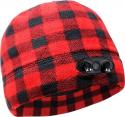 Deals List: Panther Vision - POWERCAP 35/55 Fleece Beanie - Plaid Red/Black, CUBWB-7684