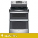Deals List: GE 6.6CuFt Free-Standing Double Oven ELECTRIC Range (JB860SJSS)