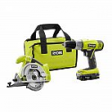 Deals List: RYOBI 18-Volt ONE+ Lithium-Ion 2-Tool Combo Kit with Drill, Circular Saw, 1.3 Ah Battery, Dual Chemistry Charger, and Tool Bag