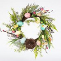 Deals List: Home Accents Holiday 22 in. Easter Wreath with Speckled Eggs and Nest