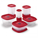 Deals List: Rubbermaid 2063704 Easy Find Vented Lids Food Storage Container, 42 Piece, New Assortment, Racer Red