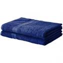 Deals List: AmazonBasics Fade-Resistant Cotton Bath Sheet - 2-Pack, Navy Blue
