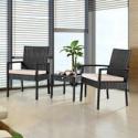 Deals List: Costway Costway 3 Pieces Rattan Wicker Furniture Set Seat