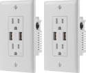 Deals List: Dynex™ - 2.4A USB Wall Outlet (2-Pack) - White, DX-HW24A182P