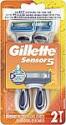 Deals List: Gillette Sensor5 Men's Disposable Razors, 2 Count, Mens Razors/Blades