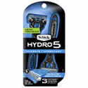 Deals List: Schick Hydro 5 Disposable Razors For Men With Flip Beard Trimmer, 3 Count