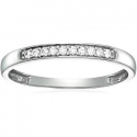 Deals List: Vir Jewels 1/5 cttw Pave Diamond Wedding Band in 14k White or Yellow Gold