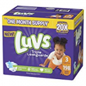 Deals List: Luvs Ultra Leakguards Disposable Baby Diapers Newborn Size 1, 252Count, ONE MONTH SUPPLY