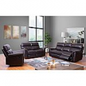 Deals List: Franklin Top-Grain Leather 3-Piece Reclining Sofa, Loveseat and Chair Set by Abbyson Living