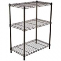 Deals List: AmazonBasics 3-Shelf Shelving Storage Unit, Metal Organizer Wire Rack, Black