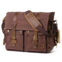 """Deals List: Lifewit 17.3"""" Men's Messenger Bag Vintage Canvas Leather Military Shoulder Laptop Bags, Coffee"""