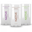 Deals List: Native Deodorant - Natural Deodorant made without Aluminum & Parabens - 3 Pack - Cucumber & Mint, Coconut & Vanilla, Lavender & Rose