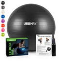 Deals List: URBNFit Exercise Ball (Multiple Sizes) for Fitness, Stability, Balance & Yoga - Workout Guide & Quick Pump Included - Anti Burst Professional Quality Design