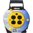 Deals List: Woods 4907 Extension Cord Reel with 4-Outlets 16/3 SJTW and 12A Circuit Breaker, 25-Foot