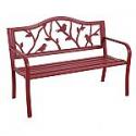 Deals List: Garden Treasures 23.5-in W x 50.4-in L Red Steel Patio Bench