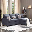 Deals List: HONBAY Convertible Sectional Sofa Couch, L-Shaped Couch with Modern Linen Fabric for Small Space Dark Grey