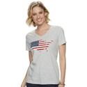 Deals List: SONOMA Goods for Life Womens Patriotic V-neck Graphic Tee