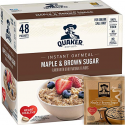 Deals List: Quaker Instant Oatmeal Maple Brown Sugar, Breakfast Cereal, 48 Packets