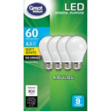 Deals List: 4-Pack Great Value LED Light Bulbs 8.5W 60W Equivalent
