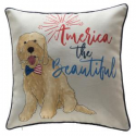 Deals List: Home Accents Holiday 18 in. 4th of July Puppy Reversible Pillow