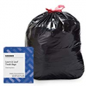 Deals List: Amazon Brand - Solimo Lawn & Leaf Drawstring Trash Bags, 39 Gallon, 40 Count