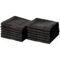 Deals List: AmazonBasics Fade-Resistant Cotton Washcloths - Pack of 12, Black