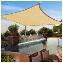 Deals List: Yescom 16' x 16' Square Sun Shade Sail (Desert Sand)