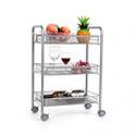 Deals List: Homfa 3-Tier Mesh Wire Rolling Cart Multifunction Utility Cart