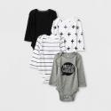 Deals List: 4-Pk Cloud Island Baby Long sleeve Bodysuit