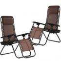 Deals List: 2-Set BestMassage Zero Gravity Reclining Folding Chair W/Holder
