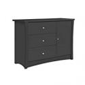 Deals List: Storkcraft Crescent 3 Drawer Combo Dresser, Gray, Kids Bedroom Dresser with 3 Drawers & 2 Shelves, Wood & Composite Construction, Ideal for Nursery, Toddlers Room, Kids Room