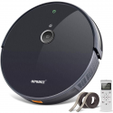 Deals List: Robotic Vacuum Cleaner, with 1800Pa Ultra Strong Suction, Robot Dust and Pet Hair Cleaning, Smart Navigation, 360°Sensor Protection, Self-Charging, Super Quiet/Slim, Ideal for Hard Floor, Thin Carpets