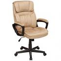 Deals List: AmazonBasics Classic Office Desk Computer Chair - Adjustable, Swiveling, Microfiber - Light Beige