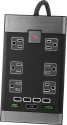 Deals List: Rocketfish™ - Premium 6-Outlet/4-USB Surge Protector - Black, RF-HTS4119