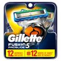 Deals List: Gillette Fusion5 ProGlide Men's Razor Blades Refills, 12 Count, Mens Fusion Razors / Blades
