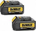 Deals List:  DEWALT 20V MAX Battery, Premium 3.0Ah Double Pack (DCB200-2)