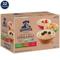 Deals List: Quaker Organic Instant Oatmeal, 3 Flavor Variety Pack (32 Packets)