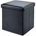 Deals List: Mainstays Collapsible Storage Ottoman (Carbon Black)